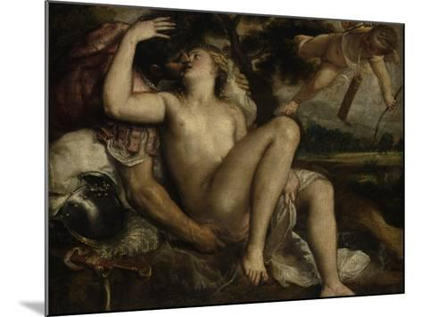 Mars, Venus and Cupid, Ca 1530-Titian (Tiziano Vecelli)-Mounted Giclee Print