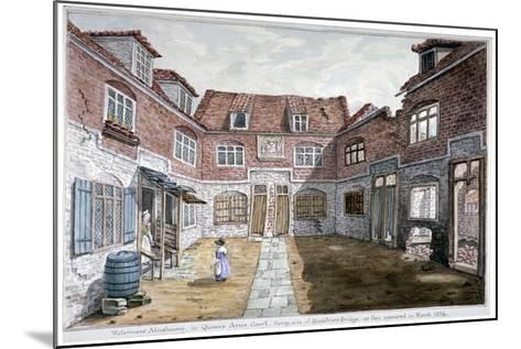Watermen's Almshouses in Queen's Arms Court, Upper Ground Street, Southwark, London, 1839--Mounted Giclee Print
