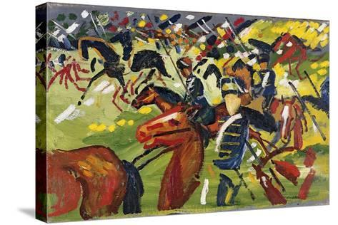 Hussars on a Sortie, 1913-August Macke-Stretched Canvas Print