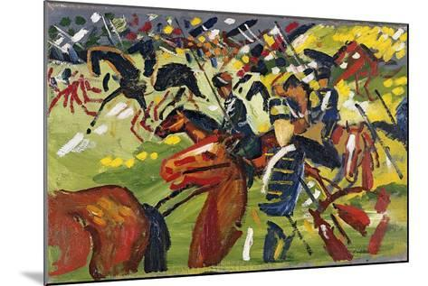 Hussars on a Sortie, 1913-August Macke-Mounted Giclee Print