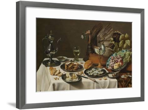 Still Life with Turkey Pie, 1627-Pieter Claesz-Framed Art Print