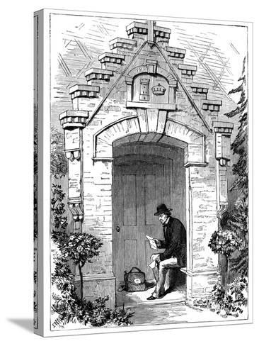 Benjamin Disraeli (1804-188) Reading Letters in the Porch of Hughenden Lodge, 19th Century--Stretched Canvas Print