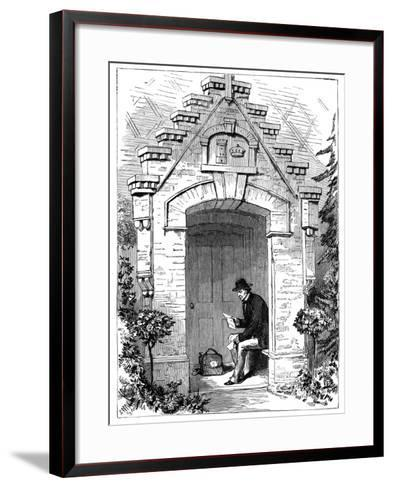 Benjamin Disraeli (1804-188) Reading Letters in the Porch of Hughenden Lodge, 19th Century--Framed Art Print