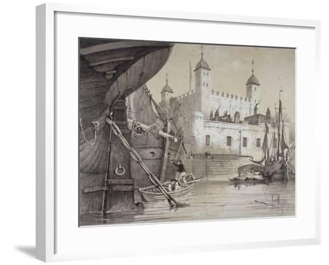 Tower of London, C1840-Edmund Patten-Framed Art Print