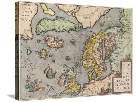 The Baltic Sea (From: Theatrum Orbis Terraru), C. 1608-1610-Abraham Ortelius-Stretched Canvas Print