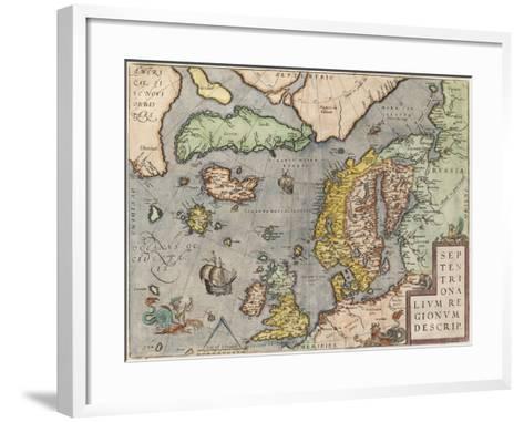The Baltic Sea (From: Theatrum Orbis Terraru), C. 1608-1610-Abraham Ortelius-Framed Art Print