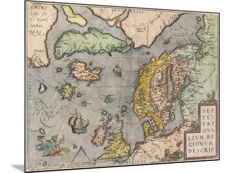 The Baltic Sea (From: Theatrum Orbis Terraru), C. 1608-1610-Abraham Ortelius-Mounted Giclee Print
