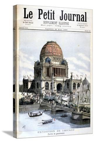 Us Government Pavilion, Chicago Exhibition, 1893--Stretched Canvas Print