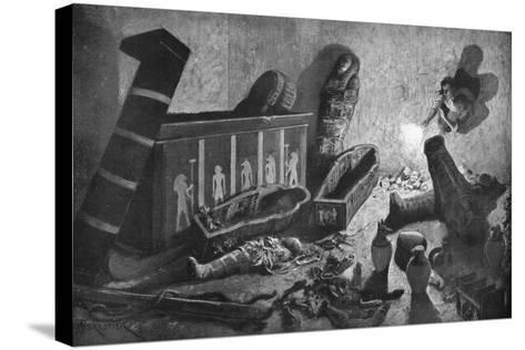 A Ransacked Egyptian Tomb, 1933-1934-Amedee Forestier-Stretched Canvas Print