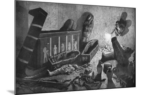 A Ransacked Egyptian Tomb, 1933-1934-Amedee Forestier-Mounted Giclee Print