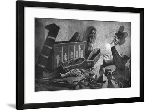A Ransacked Egyptian Tomb, 1933-1934-Amedee Forestier-Framed Art Print