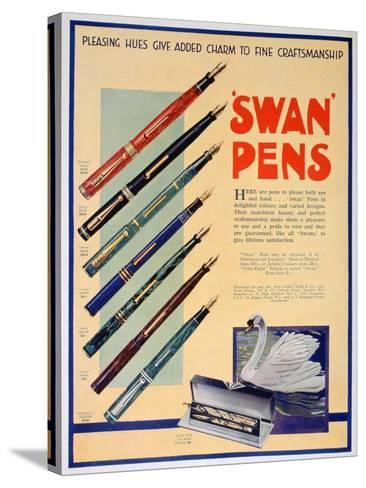Advert for Swan Pens, 1931--Stretched Canvas Print