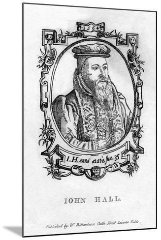 John Hall (C1575-163), English Physician--Mounted Giclee Print