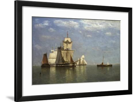 Ships Lying Off Flushing, 1869-Paul Jean Clays-Framed Art Print