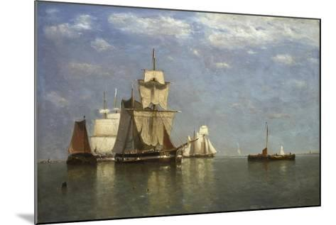 Ships Lying Off Flushing, 1869-Paul Jean Clays-Mounted Giclee Print