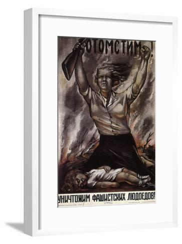 We Will Take Revenge!, 1941-Isaak Benyich Rabichev-Framed Art Print