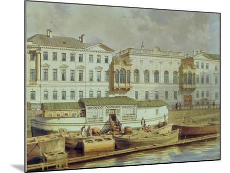 Naryshkin Palace on the Fontanka River, Mid of the 19th C-Ludwig Premazzi-Mounted Giclee Print