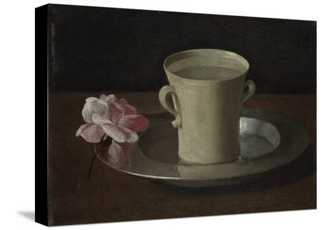 A Cup of Water and a Rose, C.1630-Francisco de Zurbar?n-Stretched Canvas Print