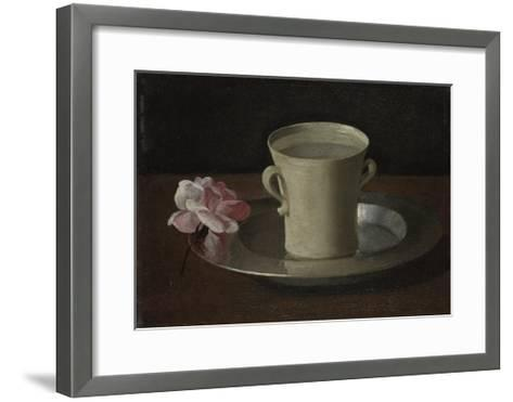 A Cup of Water and a Rose, C.1630-Francisco de Zurbar?n-Framed Art Print