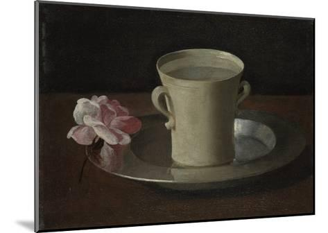 A Cup of Water and a Rose, C.1630-Francisco de Zurbar?n-Mounted Giclee Print