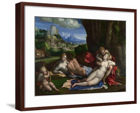 An Allegory of Love, C. 1527-1530-Benvenuto Tisi Da Garofalo-Framed Art Print