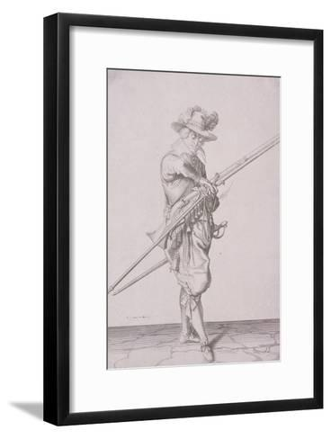 Figure in Military Clothing Holding a Musket and Wearing a Sword, 1607--Framed Art Print