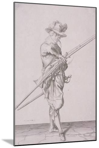 Figure in Military Clothing Holding a Musket and Wearing a Sword, 1607--Mounted Giclee Print