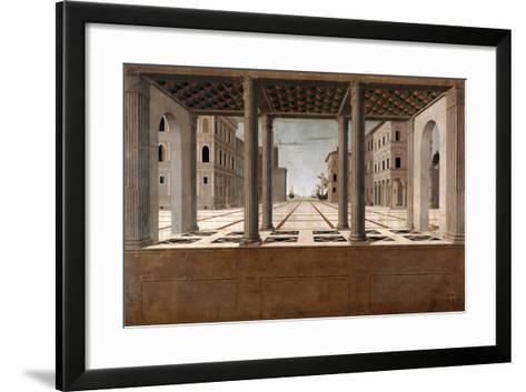 Architectural Veduta, C. 1490-Francesco di Giorgio Martini-Framed Art Print