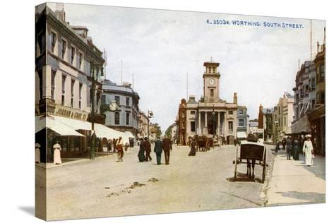 South Street, Worthing, Sussex, C1900s--Stretched Canvas Print