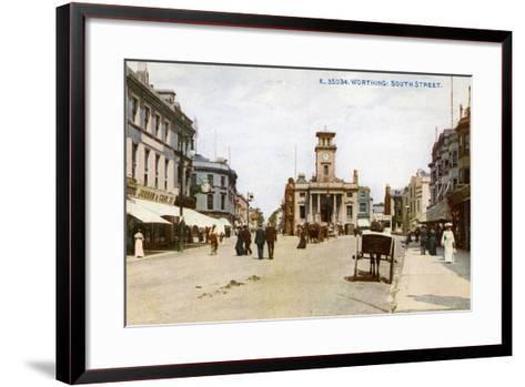 South Street, Worthing, Sussex, C1900s--Framed Art Print
