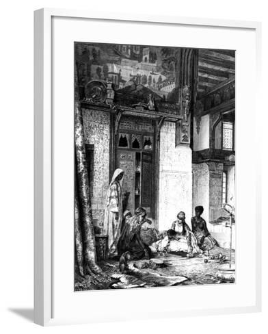 Harem in a Caliph Mansion, 1880--Framed Art Print
