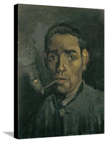 Head of a Man, 1884-1885-Vincent van Gogh-Stretched Canvas Print