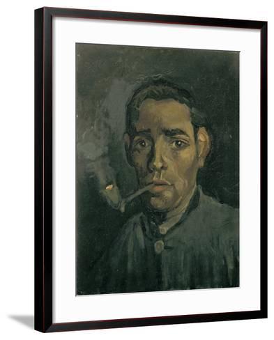 Head of a Man, 1884-1885-Vincent van Gogh-Framed Art Print
