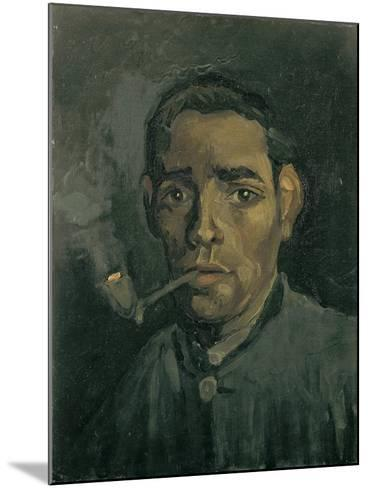Head of a Man, 1884-1885-Vincent van Gogh-Mounted Giclee Print
