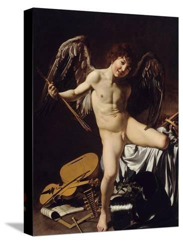 Cupid as Victor, Ca 1601-Caravaggio-Stretched Canvas Print