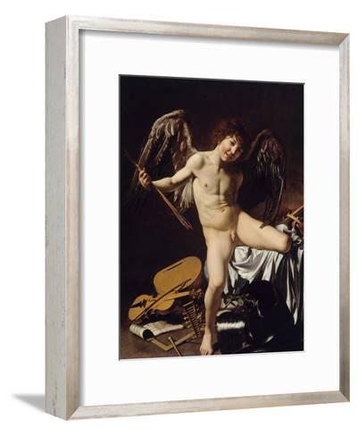Cupid as Victor, Ca 1601-Caravaggio-Framed Art Print