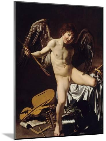Cupid as Victor, Ca 1601-Caravaggio-Mounted Giclee Print