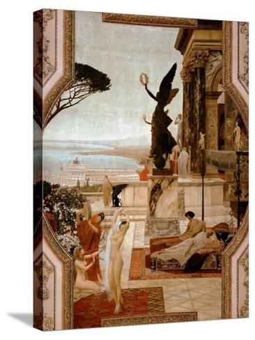 The Theatre in Taormina, 1884-1888-Gustav Klimt-Stretched Canvas Print