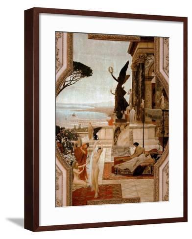 The Theatre in Taormina, 1884-1888-Gustav Klimt-Framed Art Print