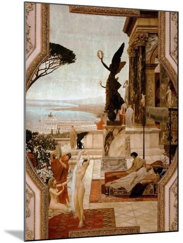 The Theatre in Taormina, 1884-1888-Gustav Klimt-Mounted Giclee Print