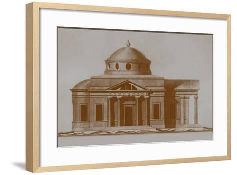 Projest of the Cathedral of St Joseph in Mogilev, C. 1780-Nikolai Alexandrovich Lvov-Framed Art Print