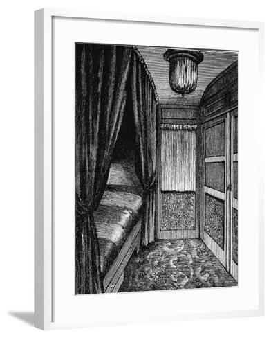 Sleeping Compartment on the Orient Express, C1895--Framed Art Print