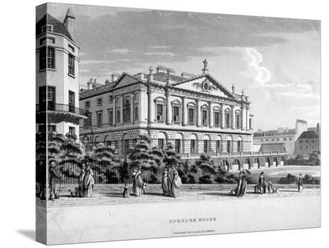Spencer House, Westminster, London, 1800--Stretched Canvas Print