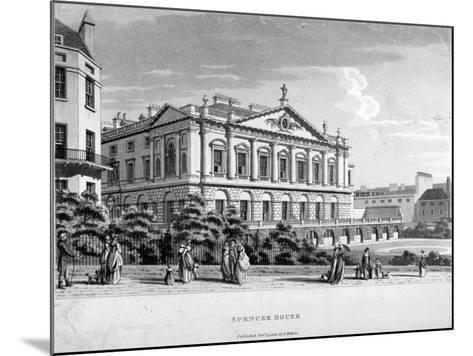 Spencer House, Westminster, London, 1800--Mounted Giclee Print
