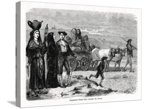 Peasants from the Valley of Ossun, France, 1879--Stretched Canvas Print