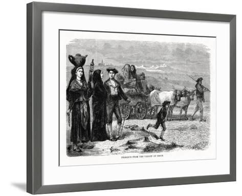 Peasants from the Valley of Ossun, France, 1879--Framed Art Print