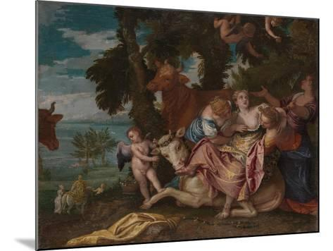 The Rape of Europa, C. 1570-Paolo Veronese-Mounted Giclee Print