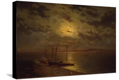 Moonlit Night, 1870S-Lev Lyvovich Kamenev-Stretched Canvas Print