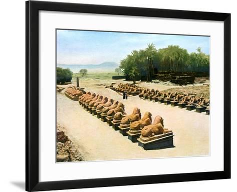 Avenue of Ram-Headed Sphinxes, Temple of Amun-Re, Karnak, Luxor, Egypt, 20th Century--Framed Art Print