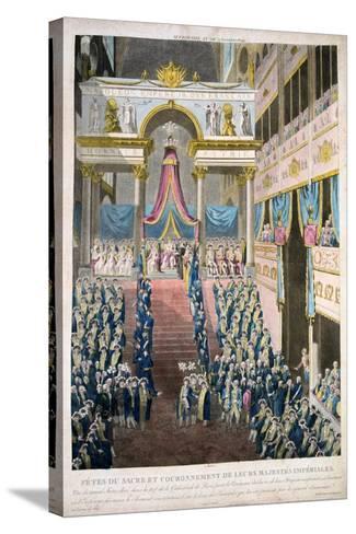 Napoleon Bonaparte Is Crowned Emperor Napoleon I, 2nd December, 1804, 19th Century--Stretched Canvas Print